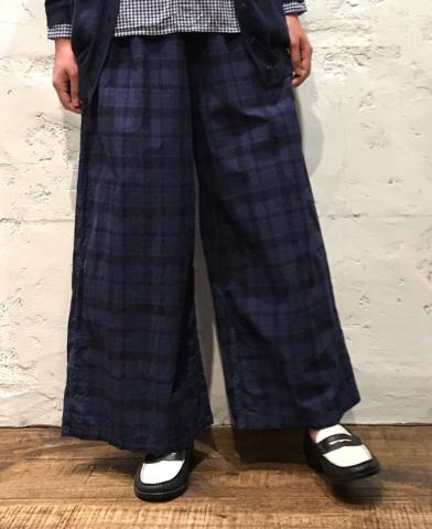 HTS ~MADRAS CHECK OVERDYE EASY PANTS~