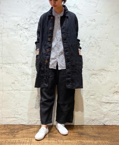 ARMEN ~ LINEN HERRINGBONE AUTHENTIC WORK COAT~