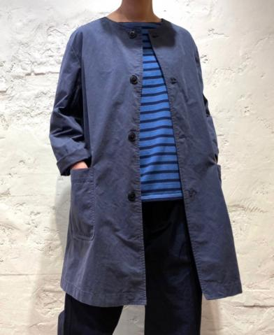 ARMEN 〜COTTON AUTHENIC NO COLLAR WORK COAT〜
