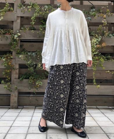 maison de soil VOILE FLOWER BLOCK PT EASY PANTS