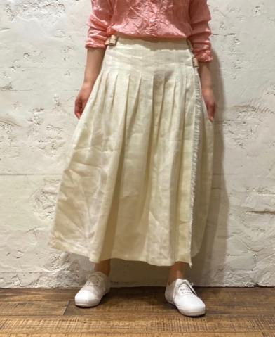 O'neil of Dublin〜 LINEN PLEATS WRAP SKIRT〜