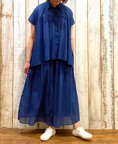 SOIL 〜 VOILE DOT GATHERED SHIRT&SKIRT 〜