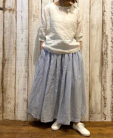 SOIL 〜POWER LOOM LINEN PULLOVER & SKIRT〜