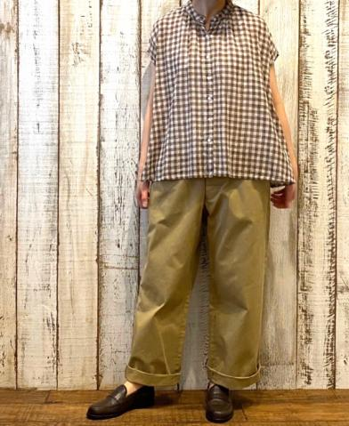 SOIL 〜FANCY GINGHAM CHECK BANDED COLLAR SHIRT〜