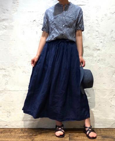 ARMEN 〜LINEN PLAIN EASY GATHERED SKIRT〜