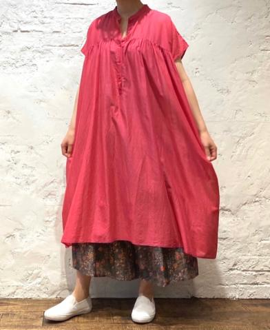 SOIL 〜SUPER FINE VOILE GATHERED SHIRT DRESS〜