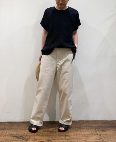 maison de soil LINEN EMB & WASHED CHINO