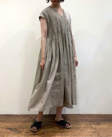 maison de soil BLOCK PRINT FRENCH/SL DRESS