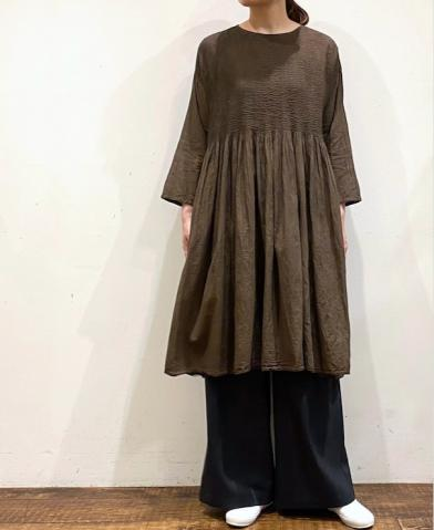 maison de soil 20F/W HAND DYED PULLOVER DRESS