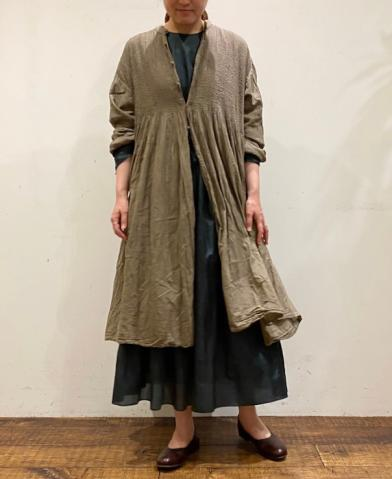 maison de soil HAND DYED SHIRT DRESS