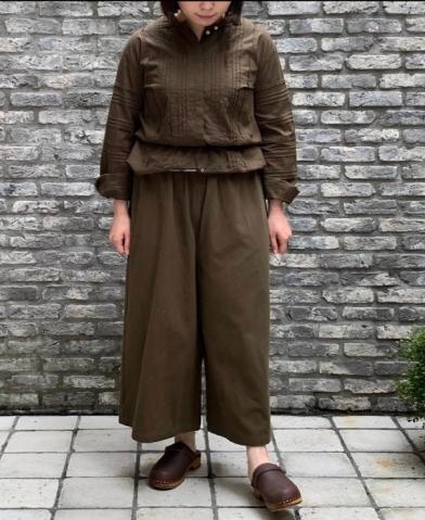 maison de soil COTTON WIDE EASY PANTS