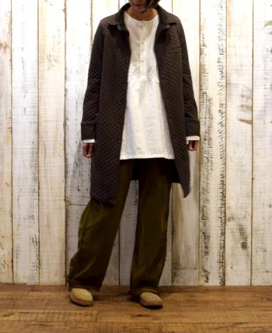 ARMEN 〜COTTON QUILT SHIRTS COLLAR COAT〜