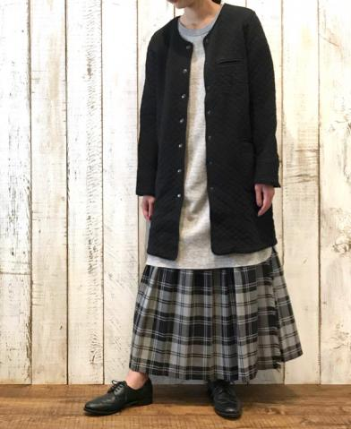 ARMEN 〜COTTON QUILT NO COLLAR COAT〜