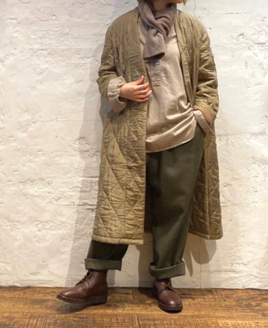 maison de soil × HTS 〜PADDED SILK PLAIN V-COLLAR C…