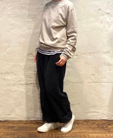 Goodwear 〜CREW NECK L/SL WITH CUFF & HEM RIB〜