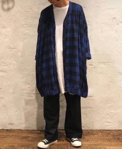 SOIL 〜COTTON FLANNEL YARN DYED CHECK FLY FRONT V-N…