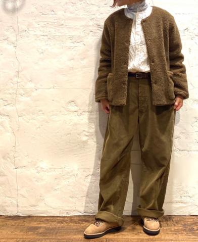 ARMEN 〜FLEECE JACKET & ONE-TUCK PANTS〜