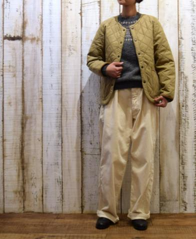 ARMEN 〜WOOL×POLYESTER HEAT QUILT NO COLLAR JKT〜