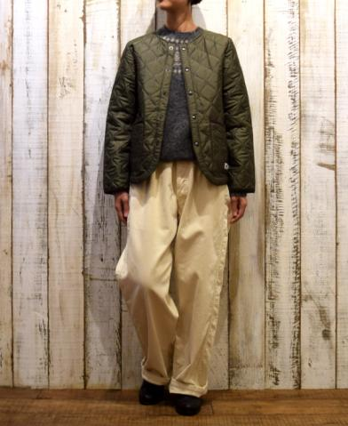 ARMEN 〜POLYESTER  HEAT QUILT NO COLLAR JACKET〜