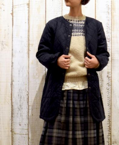 ARMEN 〜WOOL×POLYESTER HEAT QUILT NO COLLAR COAT〜