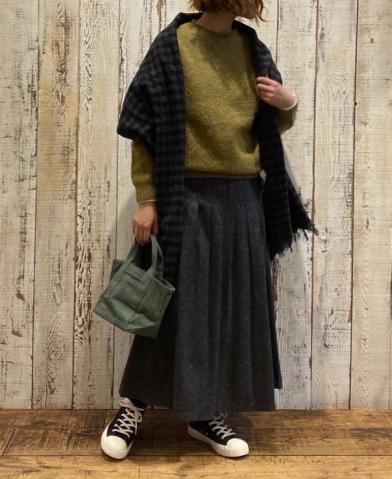 O'NEIL OF DUBLIN〜COUNTRY MIX LOW WAIST PLEATS WRAP…