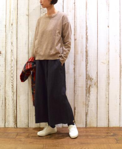 SOIL 〜1PLY LAMBS WOOL 2WAY PULLOVER〜