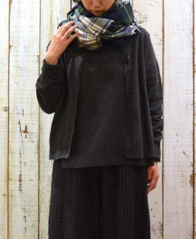 SOIL 〜1 1PLY LAMBS WOOL 2WAY PULLOVER〜