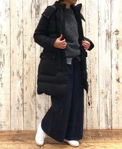 ARMEN〜WOOL DOWN ZIP&SNAP DETACHABLE HOODED COAT〜