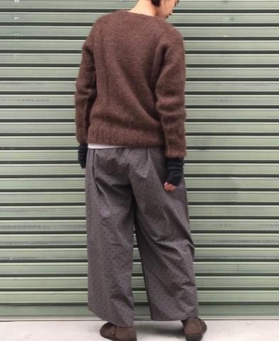 ARMEN〜KID MOHAIR CREW NECK SADDLE SHOULDER P/O〜