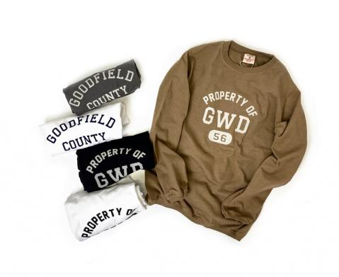 Goodwear PRINT 〜CREW NECK L/SL WITH CUFF & HEM RIB…
