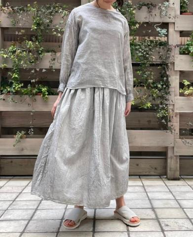 maison de soil ~HAND WOVEN COTTON SILK STRIPE (HAN…