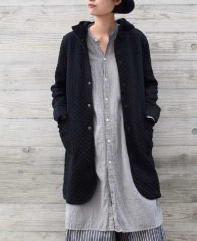 ARMEN 〜COTTON QUILT MID-LENGTH HOODED COAT〜