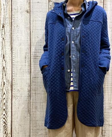 ARMEN 〜 COTTON QUILT MID-LENGTH HOODED COAT〜