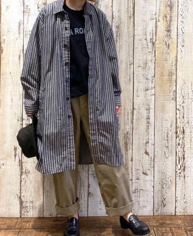 "HTS ""LINEN STRIPE"" & ARMEN ""CARPENTER PANTS"""