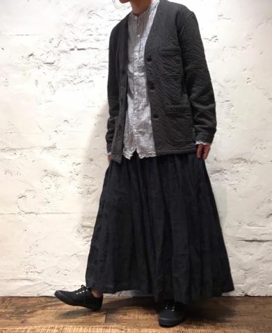 ARMEN 〜VERTICAL COTTON QUILT V-NECK JACKET〜