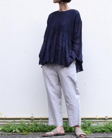 maison de soil ~ LINEN EASY TAPERED PANTS style1 ~