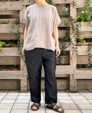 maison de soil 〜WASHED COTTON LINEN EASY TAPERED P…