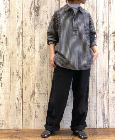 "ARMEN ""LINEN HERRINGBONE PANTS""& HTS "" LINEN STRIP…"
