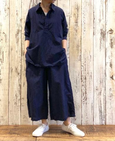 HTS 〜 COTTON LINEN STRIPE OVERDYE SET-UP〜
