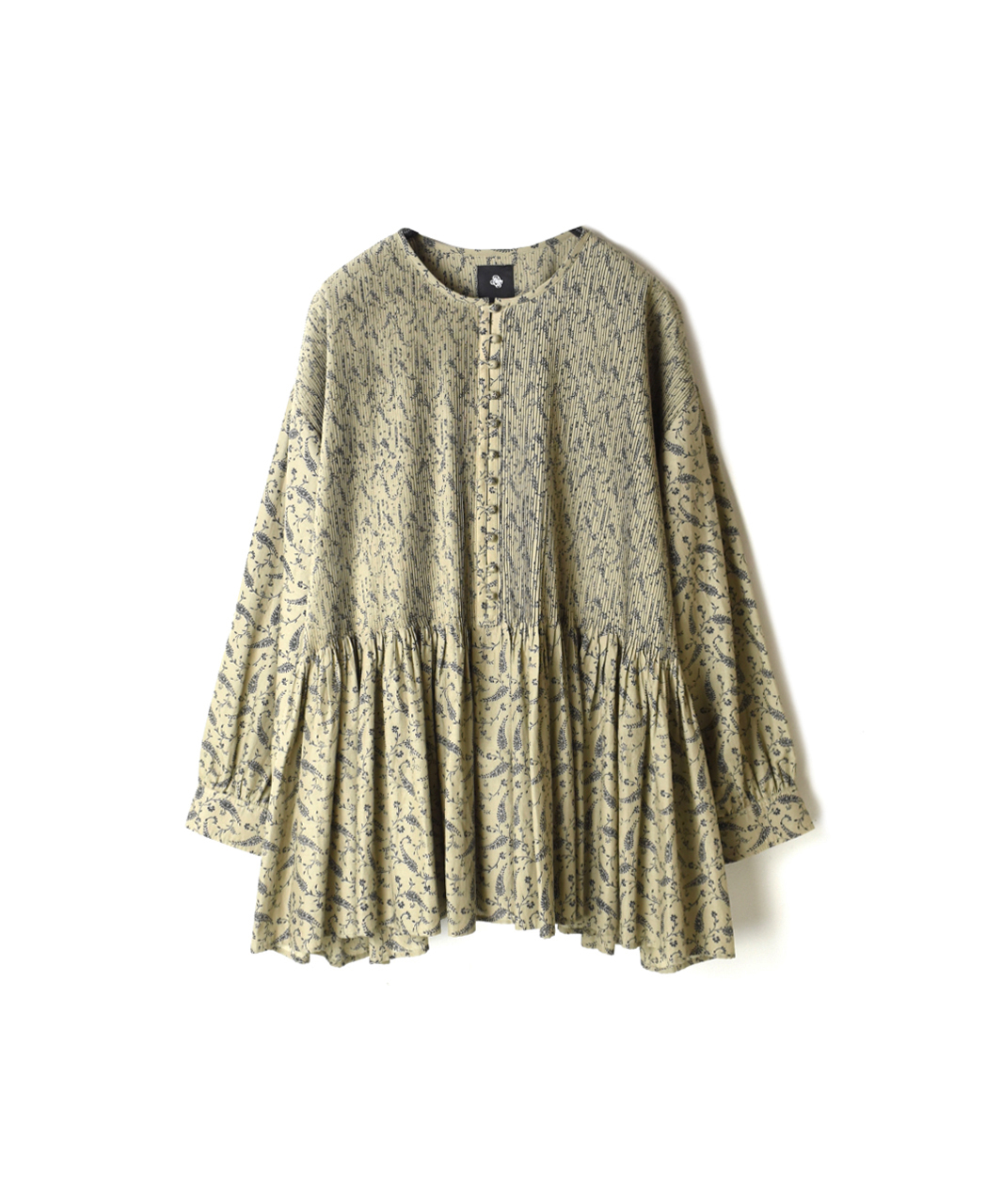 INMDS19731 PAISLEY PRINT BALL BUTTON CREW-NECK SH