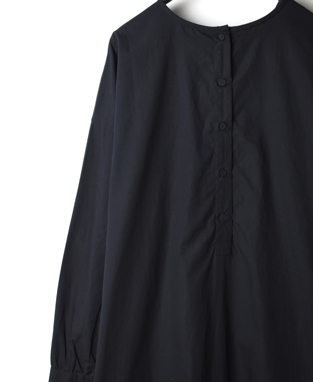 NMDS19532 ORGANIC POPLIN BACK OPENING SHIRT DRESS