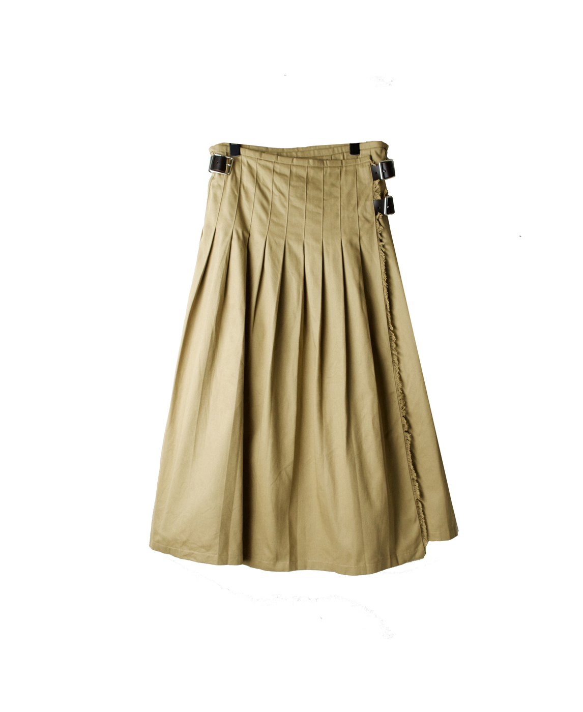 NOD1702 CHINO LOW WAIST PLEATS WRAP SKIRT