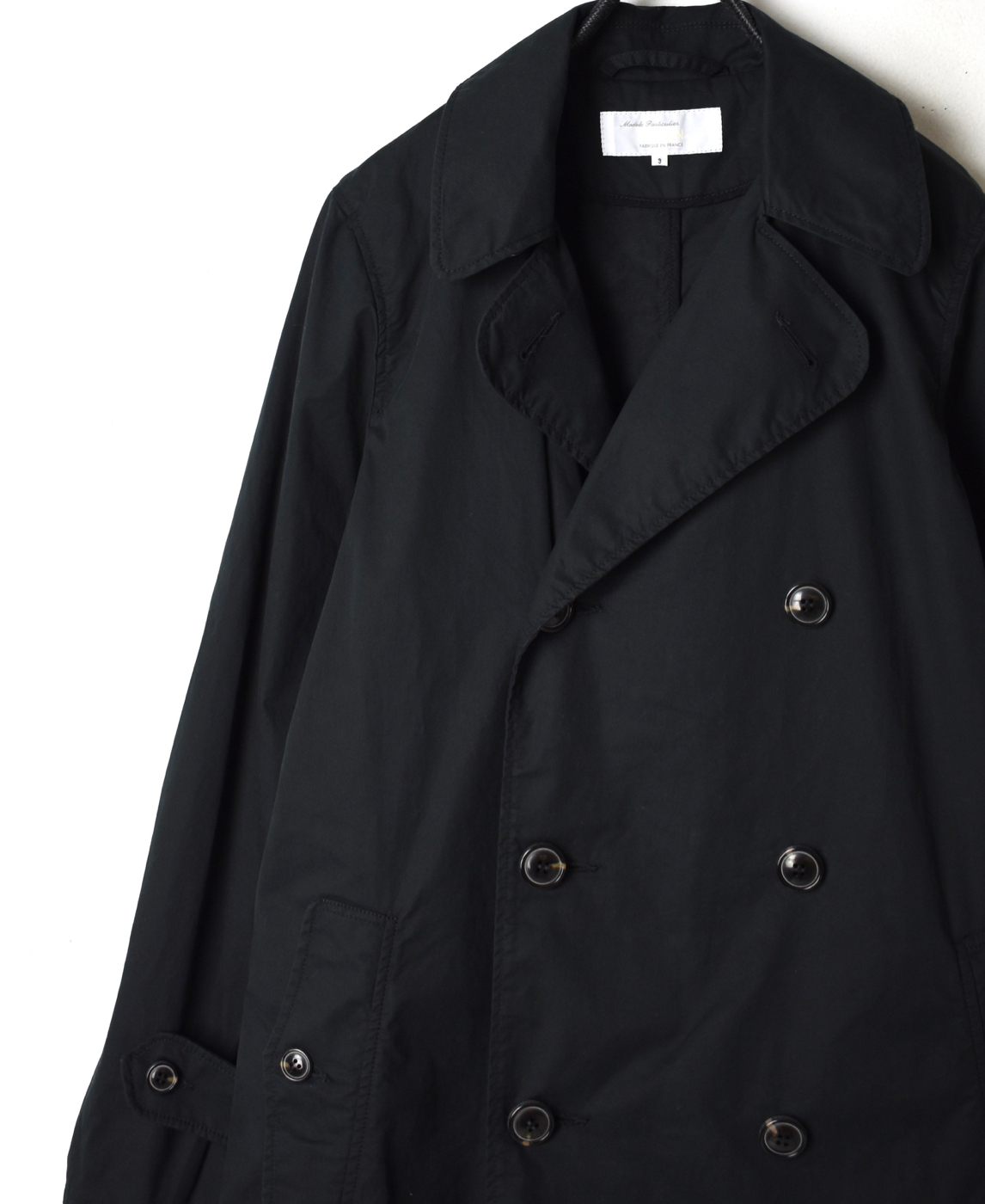NMPA1701B DOUBLE BREASTED COAT WITH SASH BELT