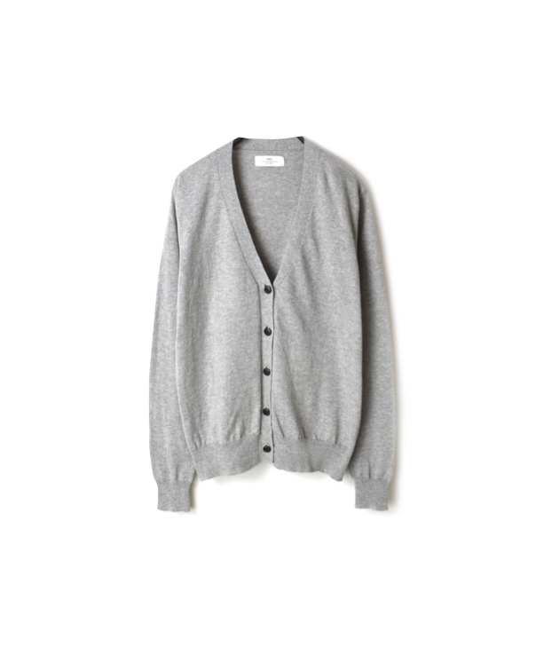 GNSL20012 COTTON PLAIN V-NECK CARDIGAN