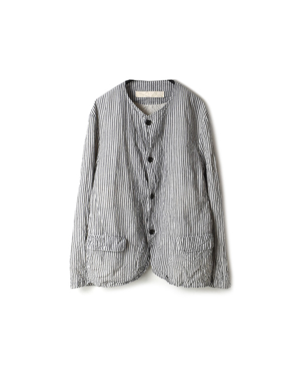 NVL1751HW HAND WOVEN COTTON NO COLLAR JACKET