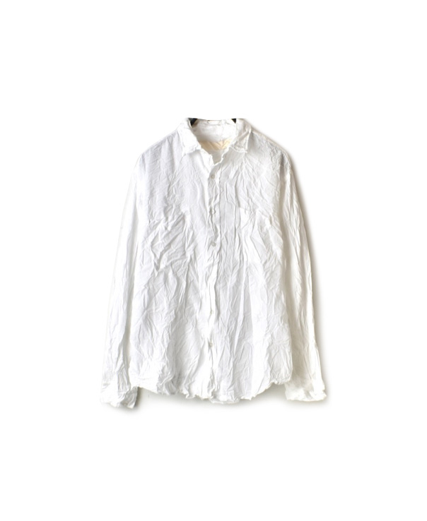 NVL1861CBW 60'S ORGANIC CAMBRIC REGULAR COLLAR L/SL OVERSIZED SHIRT