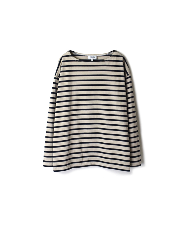 NLA2001D REGULAR STRIPE L/SL DROP SHOULDER BASQUE SHIRT