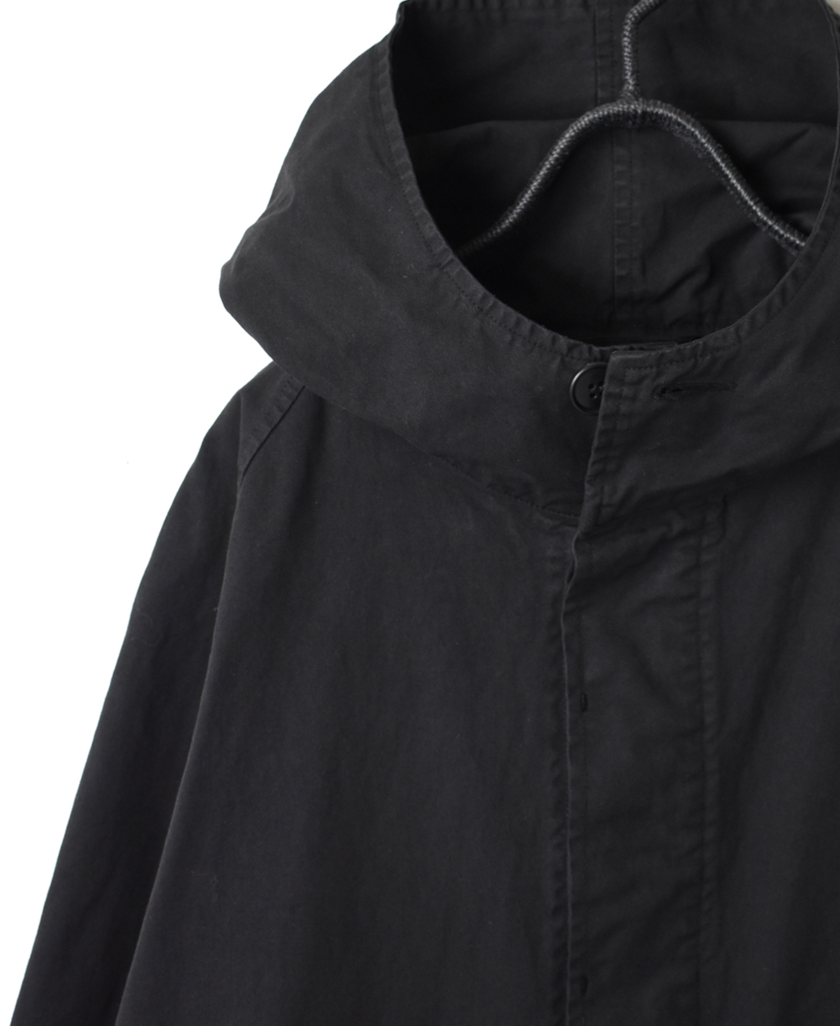 NHT1701 COTTON HEAVY TWILL COTTON HOODED COAT