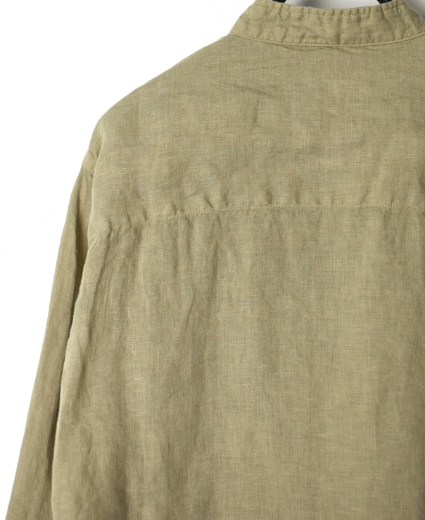 NHT1301L LINEN OVERDYE STAND COLLAR COVER ALL