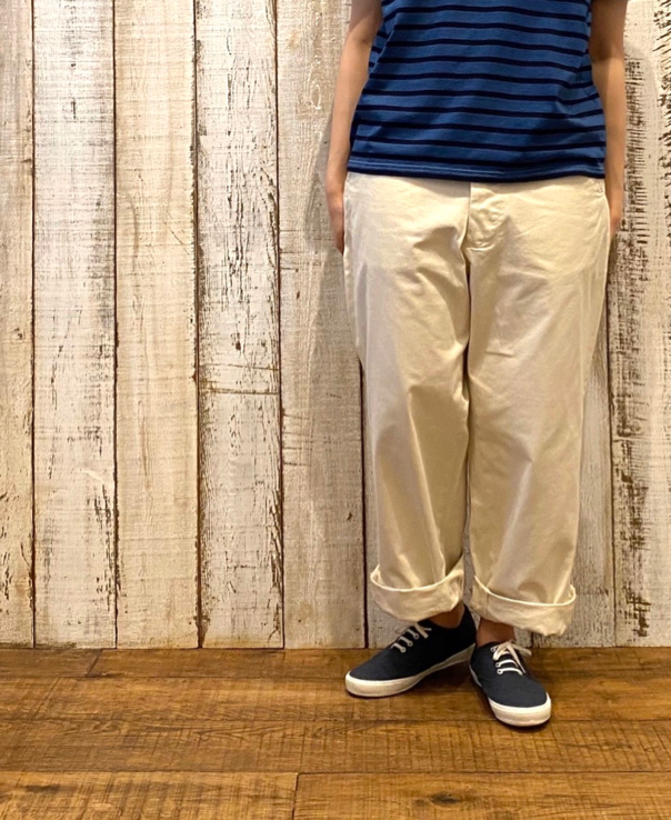 GNMDS1501 8.8oz CHINO COMFORTABLE CROPPED PANTS